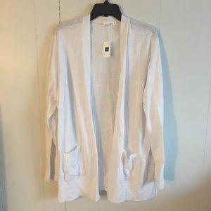 Nwt white GAP linen blend sweater